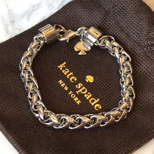 Kate Spade Silver 'Learn the Ropes' Link Bracelet